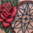 Dreamcatcher and rose tattoo Tattoo Design Thumbnail