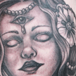 Artist with third eye tattoo Tattoo Design Thumbnail