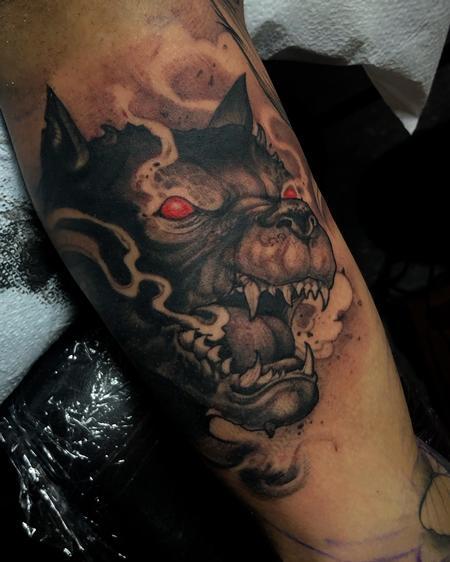 Fantasy Gargoyle - evil pitbull