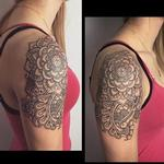Henna inspired line work tattoo Tattoo Design Thumbnail