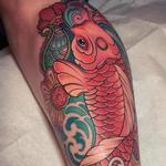 Colorful Koi Fish  Tattoo Design Thumbnail
