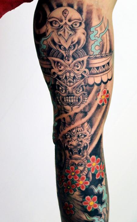 tattoos/ - Freehand totem pole tattoo - 127745