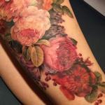 Stilllife flowers Tattoo Design Thumbnail