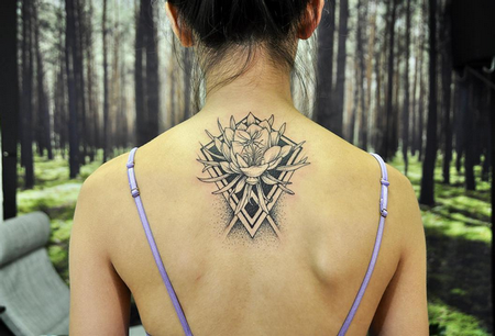 tattoos/ - Quynh and Geometry on Back- Instagram @MichaelBalesArt - 129799