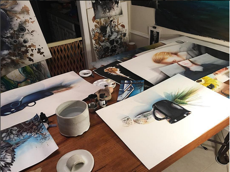 Art Galleries - Studio- Watercolors in Progress. Instagram @michaelbalesart - 123574