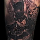 Batman in Black and Grey Tattoo Design Thumbnail