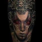 Vampiric Portrait Tattoo Design Thumbnail