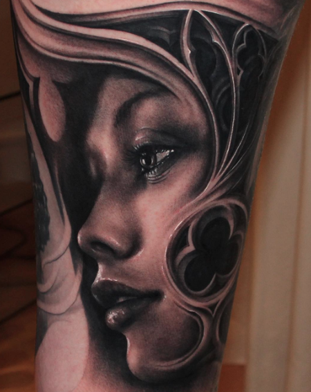 tattoos/ - Woman's Face - 109339