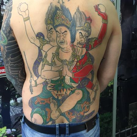 tattoos/ - Ashura - tebori backpiece in progress-  - 109500