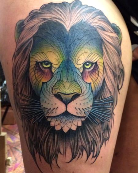 tattoos/ - Lion head - 114449