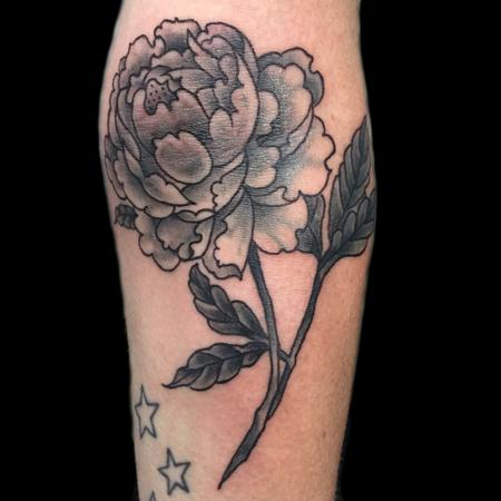 Black and Gray - Black and Grey Peonie