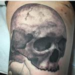 tattoos/ - Black and Gray Skull - 123654