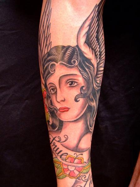 tattoos/ - Traditional Angel Tattoo - 60553