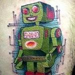 robot  Tattoo Design Thumbnail