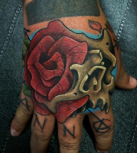 New School - skull - rose