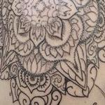 Henna inspired mandala Tattoo Design Thumbnail