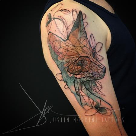 tattoos/ - Geometric Fox - 117017