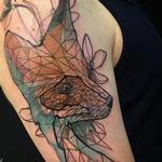Geometric Fox Tattoo Design Thumbnail