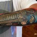 Low rider truck Tattoo Design Thumbnail