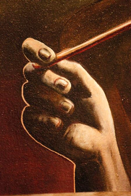 Art Galleries - Hand holding a brush - 121929