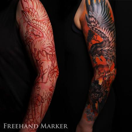 tattoos/ - Fighting with Fire Sleeve - 130565