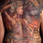 tattoos/ - Freehand Nouveau Cycling Backpiece - 123085