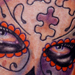 Day of the Dead Girl Tattoo with Puzzle Pieces Tattoo Design Thumbnail