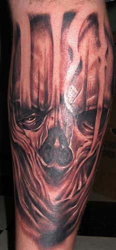 tattoos/ - skeletal face - 28380