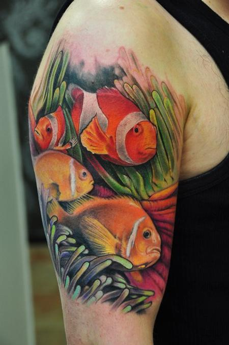 tattoos/ - fish and coral tattoo - 58657