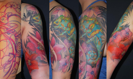 tattoos/ - Color Chameleon Tattoo - 61595
