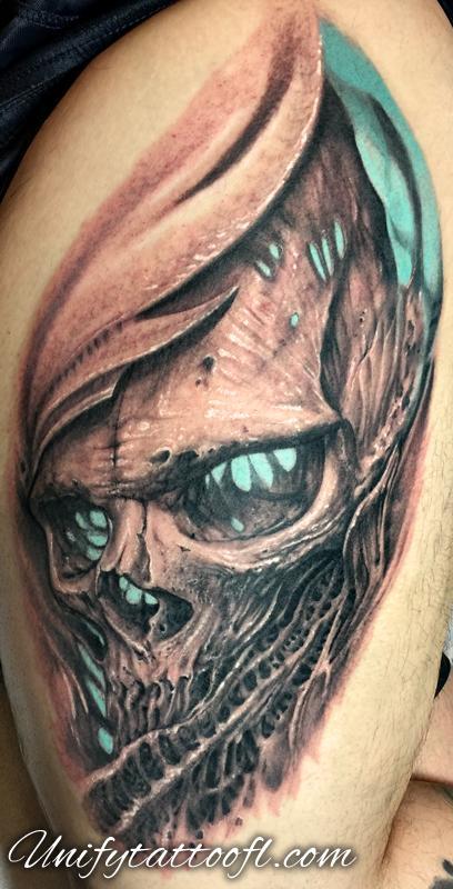 tattoos/ - Bio-Organic Skull - 123209