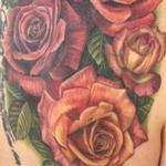 Roses on Shoulderblade Tattoo Design Thumbnail