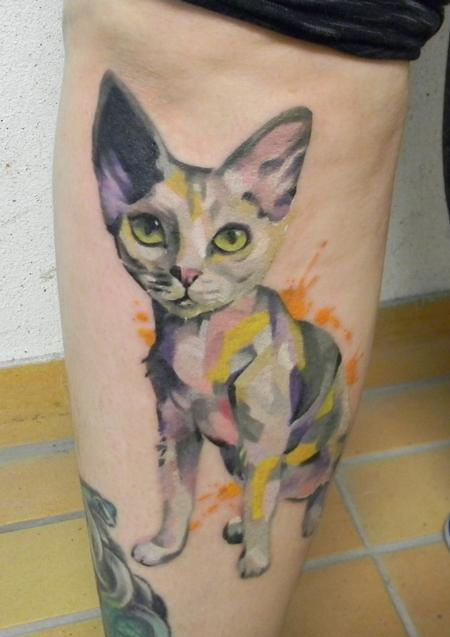 tattoos/ - Devon rex cat tattoo - 116599