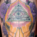 Skull and All Seeing Eye Tattoo Tattoo Design Thumbnail