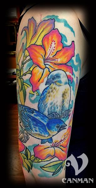 tattoos/ - Blue birds - 122465