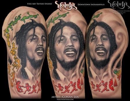 tattoos/ - Bob Marley Reggae Tribute Tattoo  - 75881