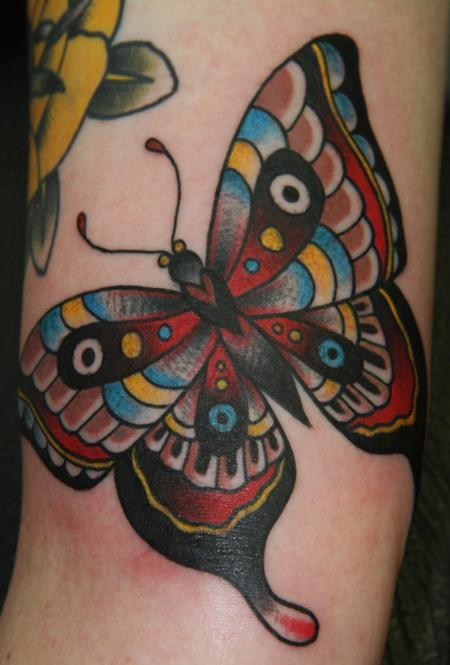 tattoos/ - Traditional Butterfly Tattoo - 61628