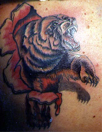Tattoo Galleries: skin rip bear