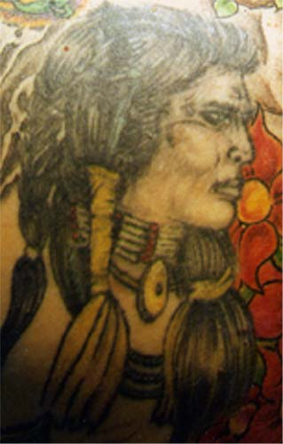 Tattoo Galleries: Indian Head Tattoo Design