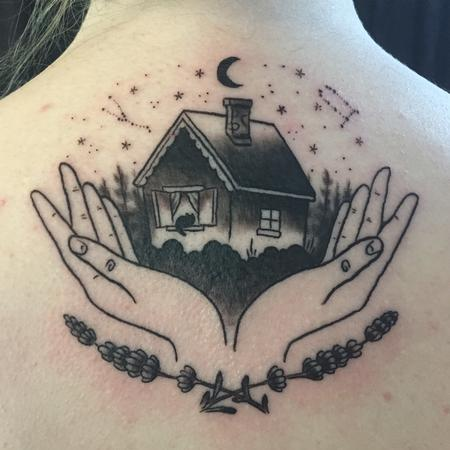 tattoos/ - House with hands tattoo - 133680