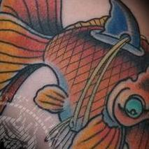 Japanese Gold Fish Tattoo Design Thumbnail