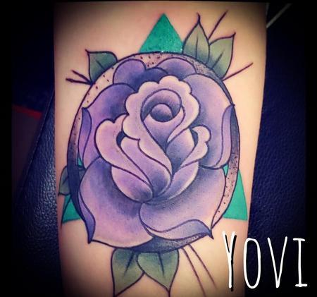 tattoos/ - Purple Rose - 137258