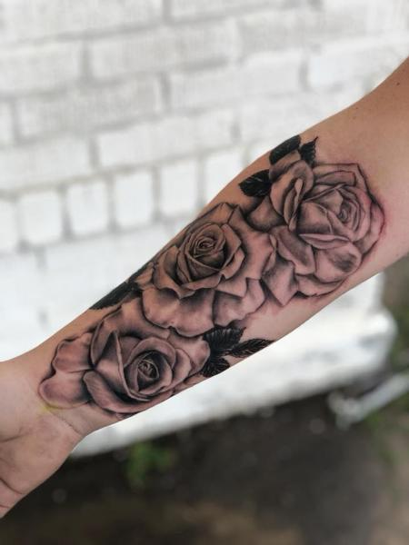 tattoos/ - Black and grey roses - 135041