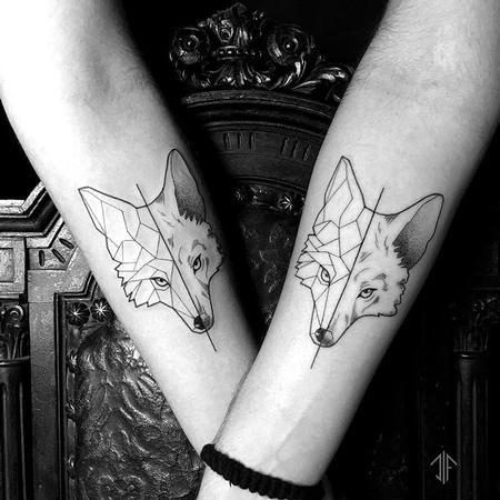 tattoos/ - Blackwork Wolves  - 128644