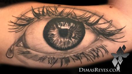 eyeball - Black and Grey Realistic Eye tattoo