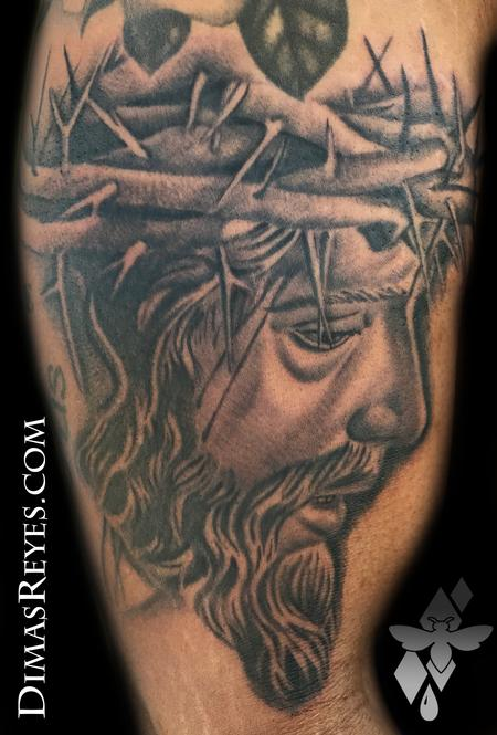 Religious Jesus - Black and Grey Jesus Christ tattoo