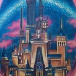 Realistic Color Cinderella Castle Tattoo Design Thumbnail