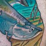Realistic Color Snook Redfish Florida Fishing Tattoo Design Thumbnail