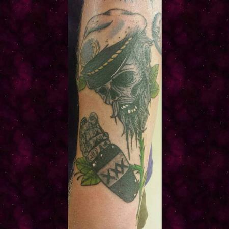 Flower Venus Flytrap - Dead Sailor Skull Flower Tattoo