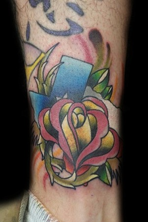 Tattoos - Texas rose